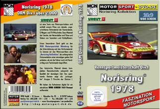 D658* Rennsportmeisterschaft Div.I Norisring 1978  in 16:9 * Motorsport-DVD