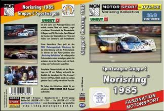 D659* Sportwagenrennen Norisring 1985  in 16:9 * Motorsport-DVD