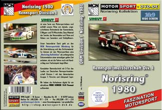 D660* Rennsportmeisterschaft Div. I Norisring 1980  in 16:9 * Motorsport-DVD