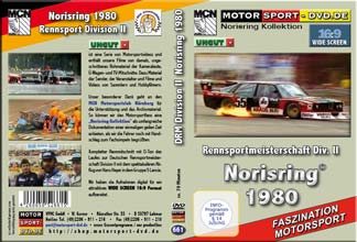 D661* Rennsportmeisterschaft Div. II Norisring 1980  in 16:9 * Motorsport-DVD