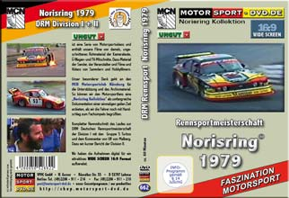 D662* Rennsportmeisterschaft Div.II Norisring 1979  in 16:9 * Motorsport-DVD