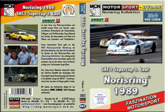 D663* SAT.1 Supercup Norisring 1989  in 16:9 * Motorsport-DVD